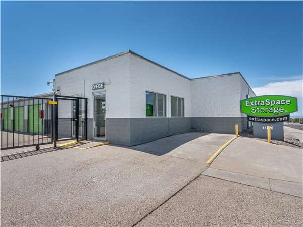 Entry to Extra Space Storage facility near Lomas Blvd NE in Albuquerque NM Exterior Storage Unit ... & Storage Units in Albuquerque NM at 11820 Lomas Blvd NE | Extra ...