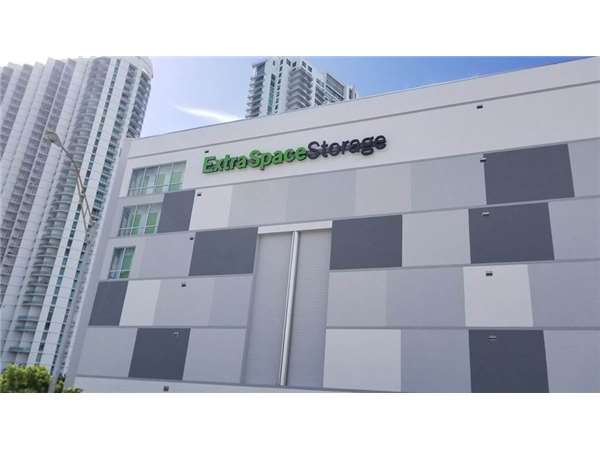 Entry To Extra Space Storage Facility Near 3rd Street In Miami, ...